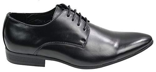 galax , Chaussures de ville à lacets pour homme - Noir - noir, 7 UK