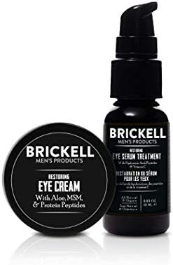 Brickell Men s Restoring Eye Routine for Men Eye Serum and Eye Cream for Men Natural and Organic product image