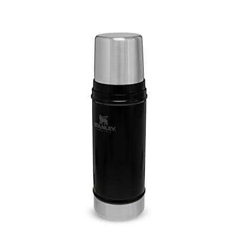 Stanley Classic Legendary Bottle 473 ml / 16OZ Matte Black - Edelstahl-Thermoskanne - BPA-frei -Hält heiß oder kalt - Deckel fungiert auch als Trinkbecher - Spülmaschinenfest - Lifetime Warranty