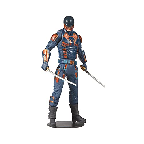 """McFarlane Toys DC Multiverse Bloodsport (The Suicide Squad) 7"""" Action Figure with Build-A King Shark Piece and Accessories"""