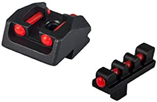 1911 Mil Spec, Springfield Series Fiber Optic Sight Set Red Rear Red Front