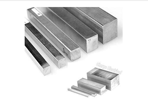 MN 6082-T5 - Barra Cuadrada (Aluminio, 300 mm de...