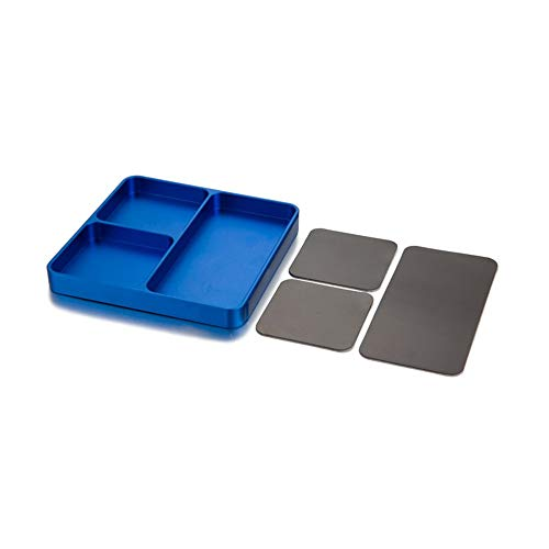 IJeilo Magnetische Desktop Schroeven Gereedschap Onderdelen Lade Houder Opslag Plate Box Case Organizer voor Metalen Onderdelen Schroeven Sockets Bouten Pins Organisatie 3D-printers, als reserveonderdelen verbruiksartikelen