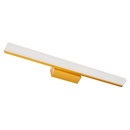 Badkamer spiegel koplamp spiegel koplamp waterdicht anti-condens-make-up spiegel kast licht wit licht ijzer + aluminium + acryl - met schakelaar (kleur: geel)