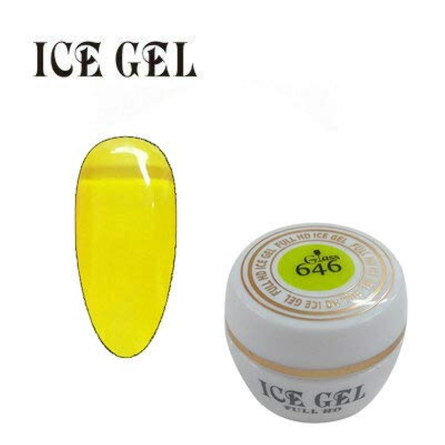 憧れ忘れっぽい旅客アイスジェル カラージェル ガラスジェル GG-646 3g