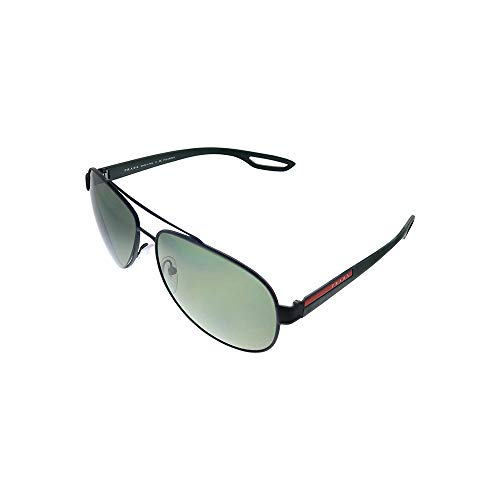 Prada LINEA ROSSA 0Ps 55Qs Gafas de sol, Black Rubber, 62 para Hombre