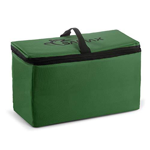SAMAX Kühltasche Isoliertasche Kühlbox für Bollerwagen Offroad 42x19x24 cm Thermotasche Camping Faltbar - Grün