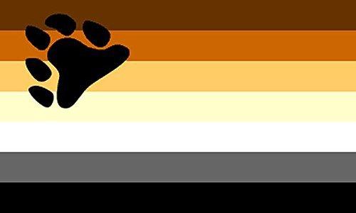 Calidad superior 152,4 cm X 91,44 cm 152,4 cm x3 ' bandera Orgullo Gay oso Isobel