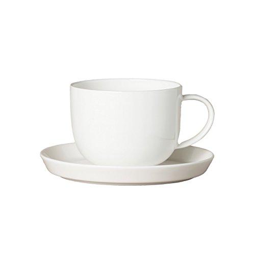 Ritzenhoff Livø Tasse, mit Untertasse, Kaffeetasse, Teetasse, Porzellan, Weiß, Ø 7.5 cm, 4200001