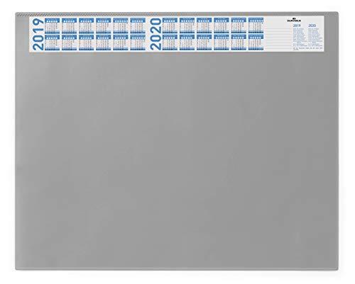 Durable 720410 - Vade de sobremesa con calendario y funda antirreflejos (650 x 520 mm), color gris