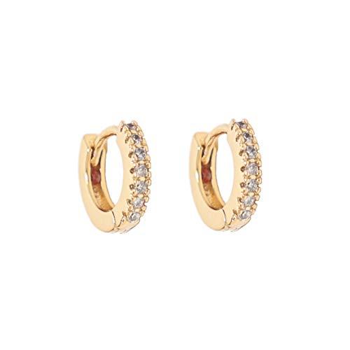 Heart Made of Gold Huggie Earrings - Small Hoop Earrings - Hoop Earrings for Women - Diamond Earrings - Gold Hoop Earrings - Huggie Hoop Earrings (Gold)