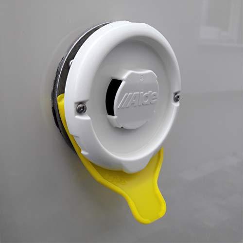 Manufaktur3D Kondenswasserablauf Kaminschild Ablauf für Deckel Kamindeckel Kaminabdeckung Abgaskamin der Heizung an Wohnmobil Caravan (Typ Alde, Gelb)