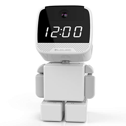 GAOJIAN Cámara robotizada de vigilancia inalámbrica,Cámara de Reloj Remoto para Home HD visión Nocturna Red WiFi