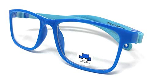 VENICE EYEWEAR OCCHIALI Azul Bloqueo Gafas para Niños Anti Rayo Azul Filtro Reduce Fatiga Visual Para Niña Chico Gafas de Ordenador para Niños Bloqueo Luz Azul Gafas Computadora Ordenador (Azul)