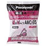 (まとめ)パナソニック 交換用紙パックM型Vタイプ AMC-S5 1パック(5枚)【×5セット】