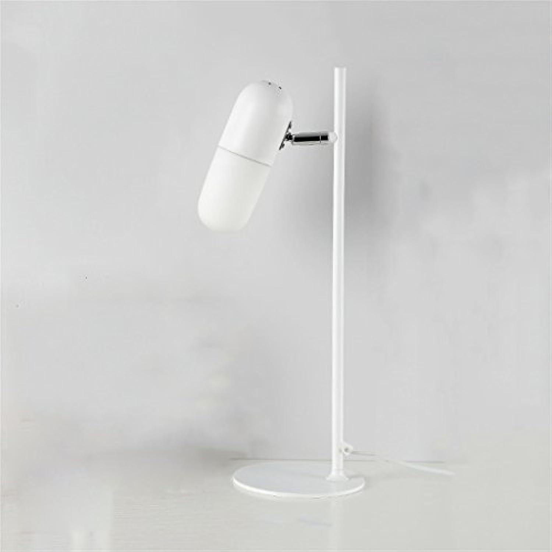 LYP-Leuchten Schreibtischlampe, tragbare Tischleuchte ohne einstellbare Helligkeit für die Augenpflege Schreibtischlampe lesen (keine Glühbirne, Schalter) für Büro, Zuhause, Studium (Farbe   Wei)