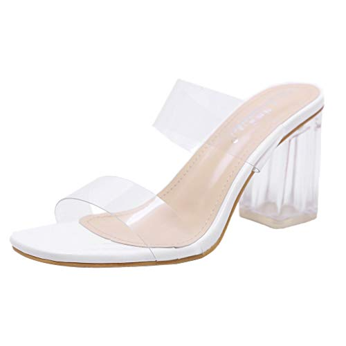 DOGZI Damen Sandalen, Sommer Classic Schuhe Zehentrenner Pantoletten - Beiläufige Transparente Strand Sandalen Schuhe Der Frauen Sommer Beiläufige