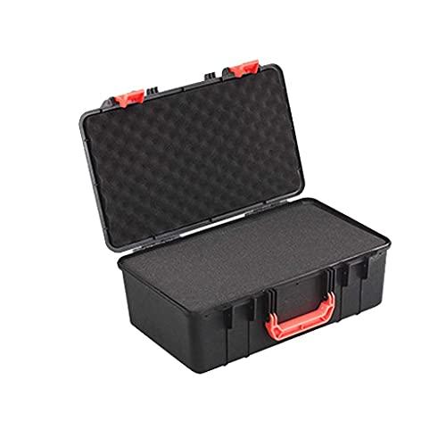 XBSXP Estuche rígido para Equipo de cámara, Caja de Herramientas de Almacenamiento con Cerradura Estuche de plástico extraíble para Equipo de Vuelo con Estuche de Transporte de Espuma 44