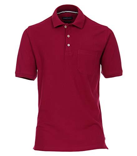 CASAMODA Herren Polo-Shirt Uni Beere XL