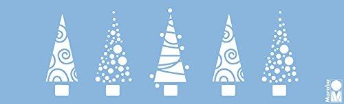 Marabu, Stampo per Alberi di Natale, 275990001, 10x 33cm, Colore Blu