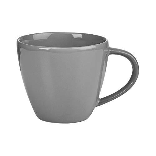 BUTLERS Sphere Tassen-Set 4 x 360ml in Grau - Buntes Kaffeetassen-Set aus Steinzeug - Kaffeebecher, Teetassen