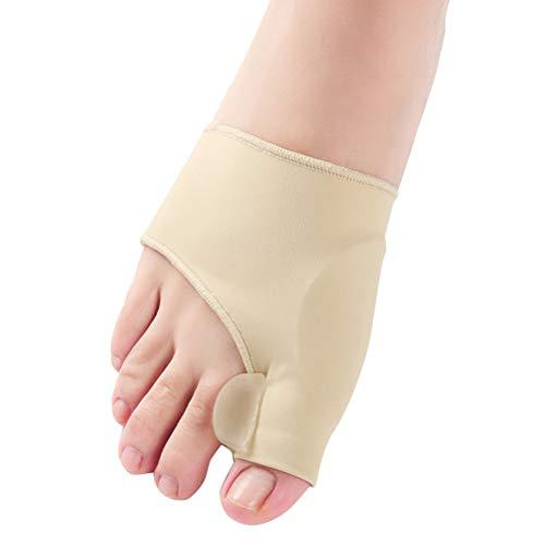 Healifty 1 Paar Hallux Valgus Zehenspreizer Groß zehen Korrektur Socken Bunion Sleeve Corrector Ballenschutz Größe S (Khaki)