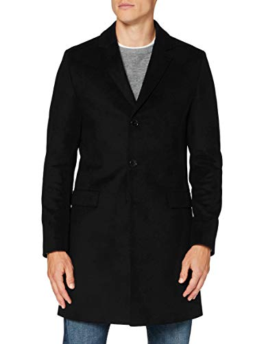 HUGO Mens Migor2041 Dress Coat, Black (1), 56
