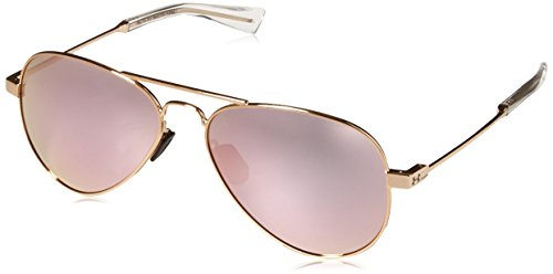 Under Armour Getaway M Sunglasses Aviator Gloss Rose Gold/Gray with Pink Mirror