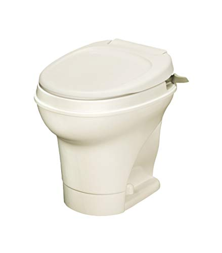 Thetford Aqua Magic V RV Toilet Hand Flush - High Profile - Parchment Color 31668