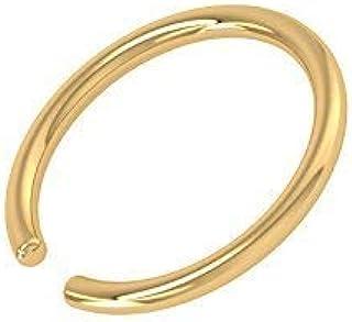 Jewelry Adviser Body Jewelry /& Piercing 10k W//Zipper Belly Dangle