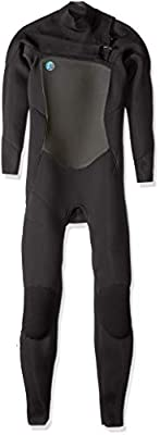 O'Neill Women's O'Riginal 3/2mm Chest Zip Full Wetsuit, Black/Black/Black, 4