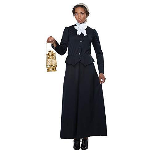 California Costumes Women's Susan B. Anthony - Harriet Tubman - Adult Costume Adult Costume, -black/White, Medium