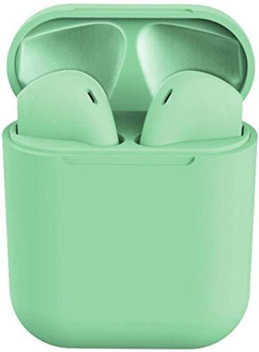 Auricolari senza fili, Bluetooth 5.0, ergonomiche, impermeabili, Auto Pairing, Compatibilità Universale, design fashion color disponibili nei Colori: Verde acqua, Rosa, Bianchi, neri (Verde Acqua)