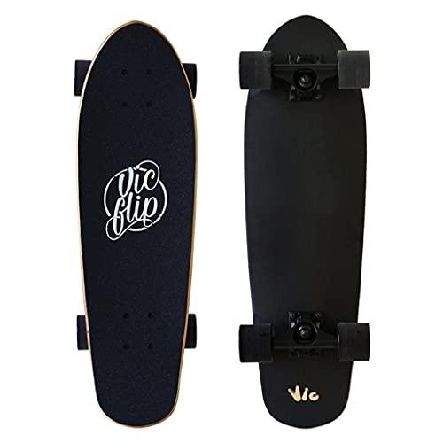 Tabla de surf de skateboard, tablero de surf principiante Cepillo de ejercicios Big Fish Board Big Skateboard Tablero de longboard para principiante completo Tablero corto con 7 capas arce canadiense