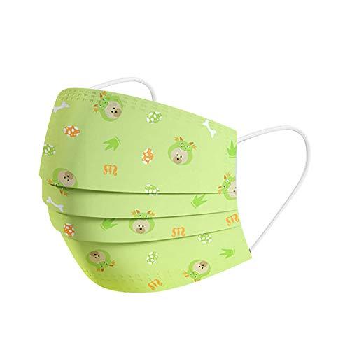 AIchenYW - Máscara para rostro para niños, desechable, no tejido, 3 pliegues, protección de color liso, cómoda, anticontaminación facial para niños y niñas