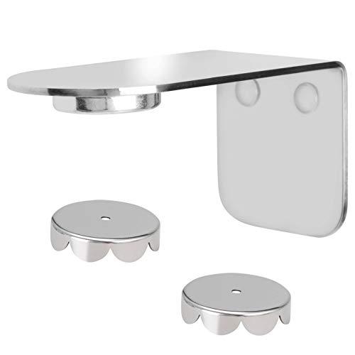 bremermann Magnet-Seifenhalter PUREZZA - frei hängende Seife durch Magnet - Kleben oder Bohren (Edelstahl Hochglanz)