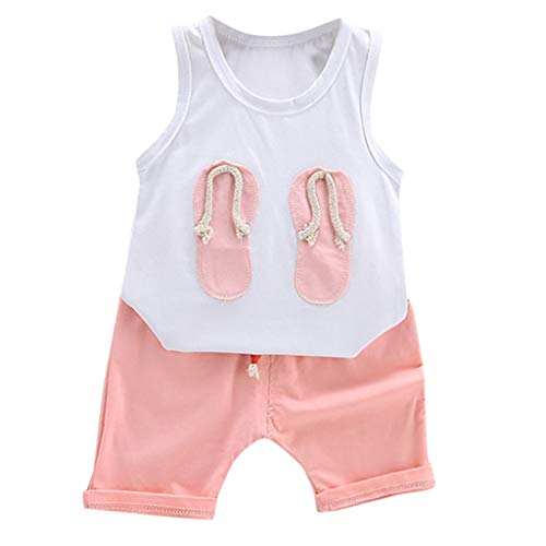 Julhold Mode Peuter Kids Baby Jongen Leuke Mode Touw Vest Casual Katoen Tops Shorts Broek Outfits 2 STKS Set 1-5 Jaar