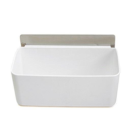BESTOMZ Badablage Duschablagen ohne Bohren Kunststoff selbstklebend Duschkörbe Wandablage für Badezimmer (weiß)