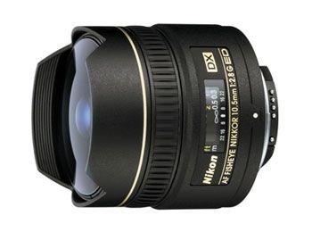 Nikon AF DX NIKKOR 10.5mm f/2.8G ED Fixed Zoom Fisheye Lens with Auto Focus for Nikon DSLR Cameras (Certified Refurbished)