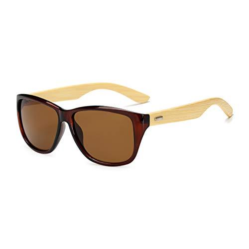 YTYASO Gafas de Sol de bambú de Madera para Hombres y Mujeres con Espejo UV400, Tonos de Madera Real, Gafas de Sol Doradas y Azules para Exteriores, Gafas de Sol para Hombre