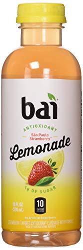 Bai Flavored Water, São Paulo Strawberry Lemonade, Antioxidant Infused Drinks, 18 Fluid Ounce Bottle, 6 count
