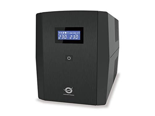Conceptronic ZEUS04EM Línea interactiva 2200VA 5salidas AC Sistema de alimentación ininterrumpida (UPS) ZEUS04EM, 2200 VA, 1320 W, 220 V, 240 V, 220 V, 240 V