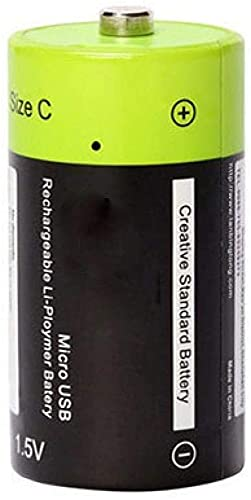 Wiederaufladbare Lithiumbatterie Batterien1 5VBatterie Lithium Li-Polymer 3000Mah USB C Typ Li-Ion Leistungsstarker Akku USB-Ladekabel 1 Stück