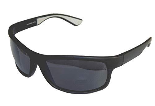 Sportbrille Sonnenbrille Motorradbrille Radbrille Sport Gangster Style (schwarz grau verspiegelt)