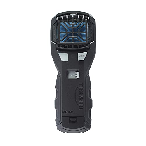 Thermacell MR450 Portable Mosquito Repeller with Rubber Armor and ZoneCheck; Includes Belt Clip and 12 Hrs of Refills; No DEET, No Mess, No Flame, No Scent; Highly Effective Bug Spray Alternative