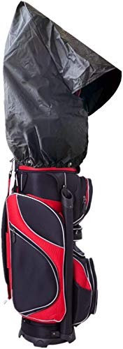 Golf Travel Bag Dust Rain Covers Translucent PVC Golf Cart Travel Bag Rain Hood Value Pack, Golf Bag Waterproof Rain Slicker Cover Portable Protection For Men (Standard Size 19.7''X21.7''-Black)