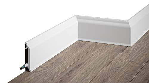 MARDOM DECOR Sockelleiste I MD8300 I moderne Fußbodenleiste Bodenabschlussleiste I 200 cm x 8,3 cm x 2,0 cm