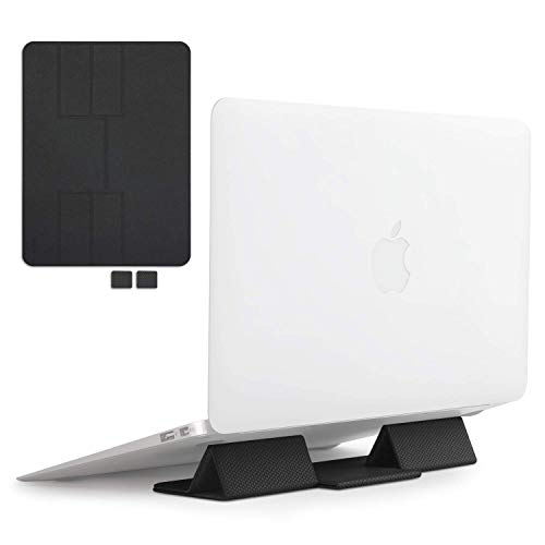 Price comparison product image Ringke Folding Stand Portable and Foldable Laptop Stand for Desktop MacBook Notebook Computer iPad Tablet - Black