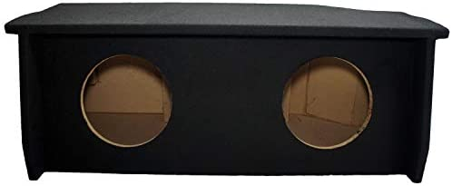 Compatible with 2007 UP Jeep Wrangler 2 Door Dual 10 Sub Box Subwoofer Enclosure with Amp Rack product image