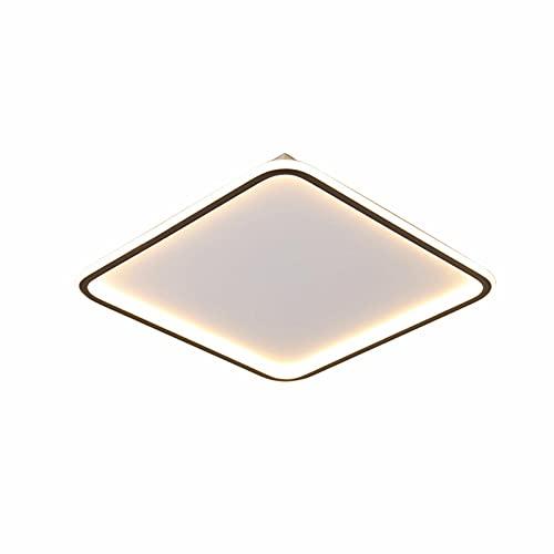 Plafón LED cuadrado blanco brillante, para techo, para cocina, dormitorio, pasillo, oficina